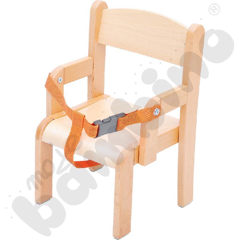 Krzesło Krzyś z pasem na brzuch i stopką filcową