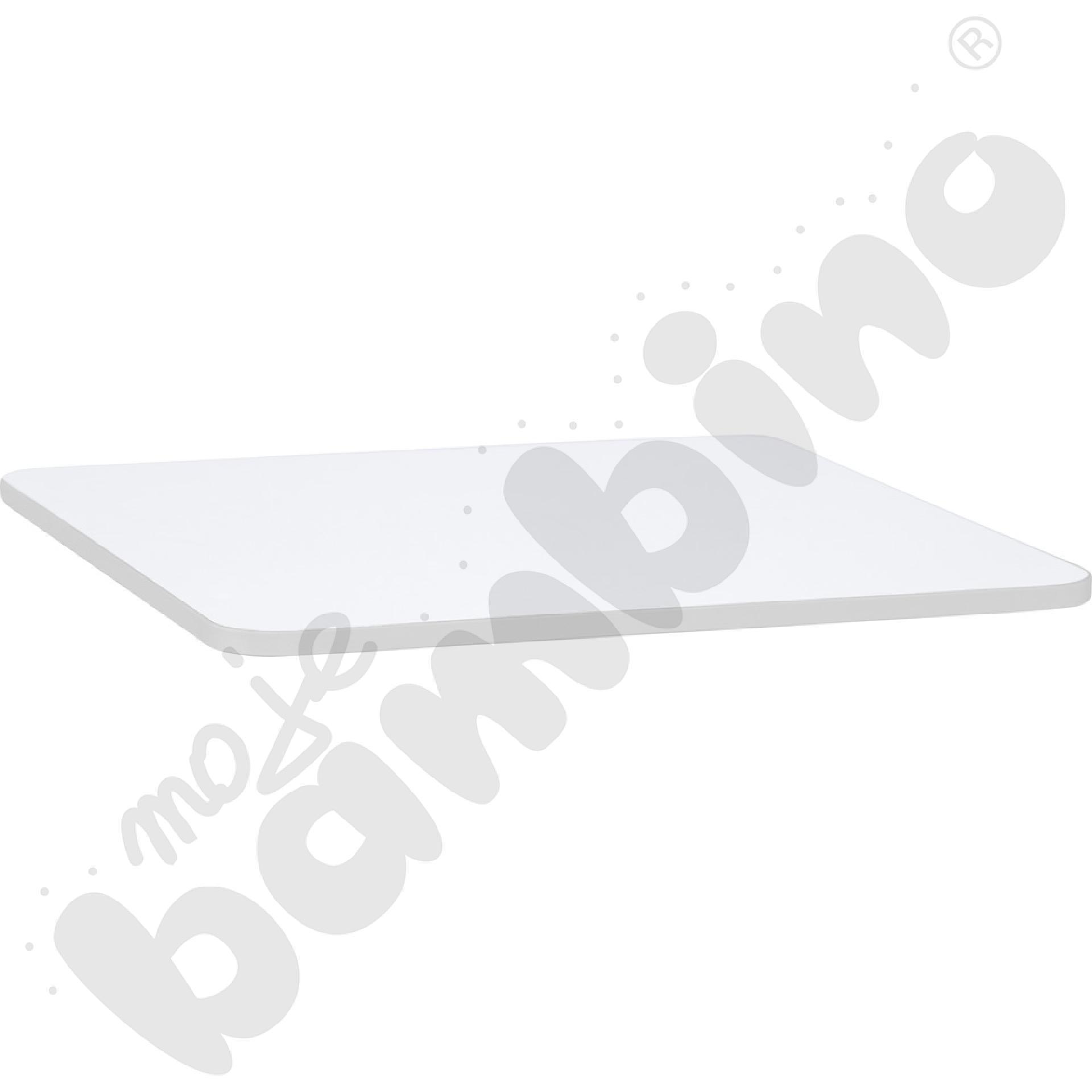 Blat Quadro biały kwadratowy, szare obrzeże