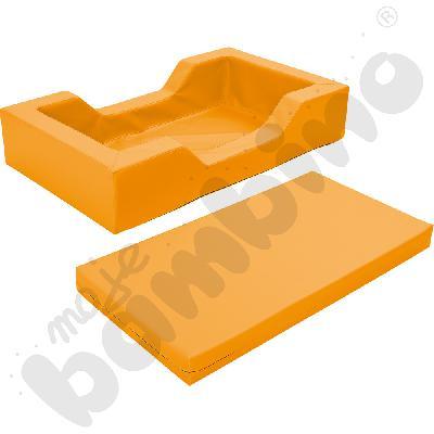 Łóżeczko piankowe z wycięciami pomarańczowe