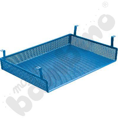 Półka metalowa do stołów, do zamocowania pod blatem - niebieska
