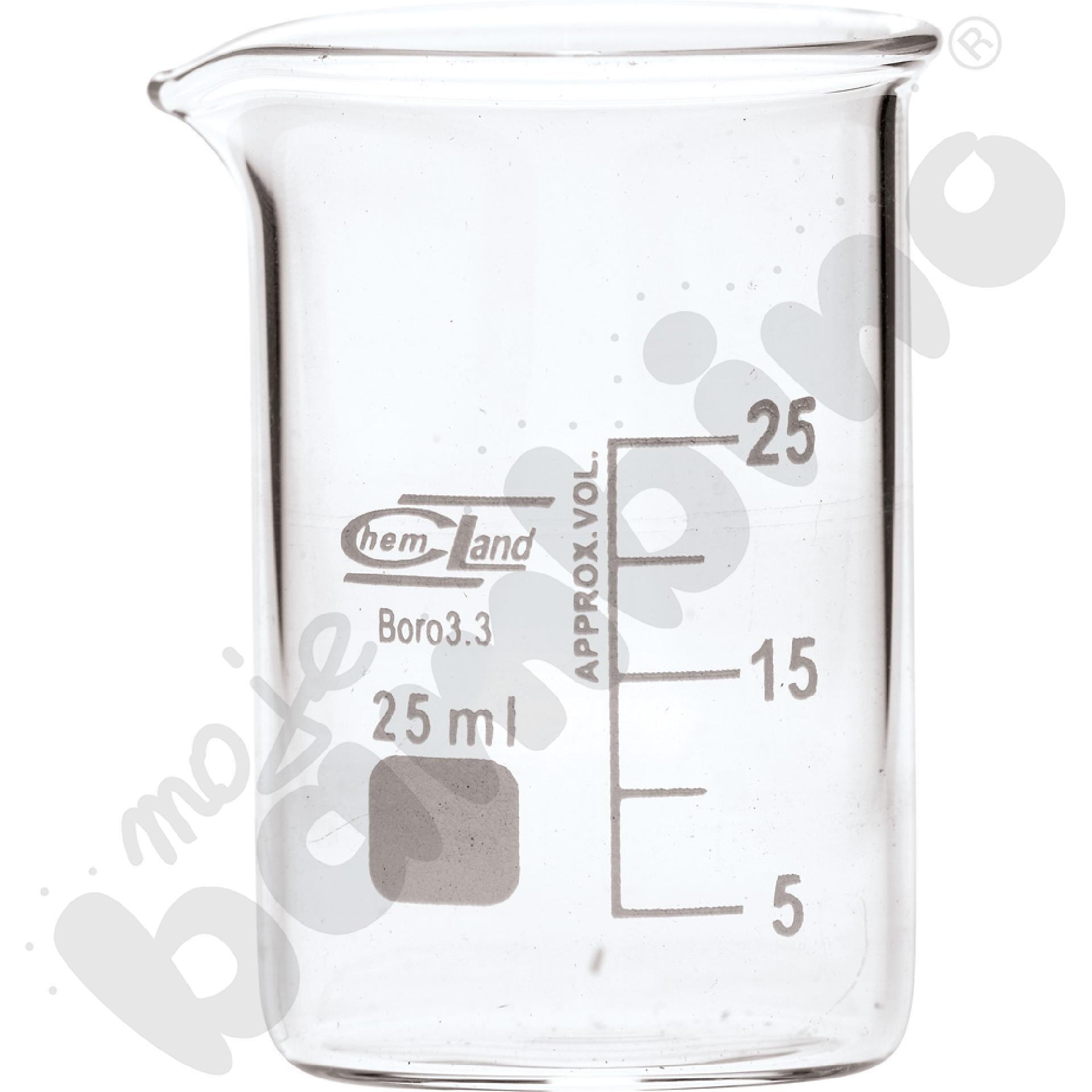 Zlewka niska szklana 25 ml