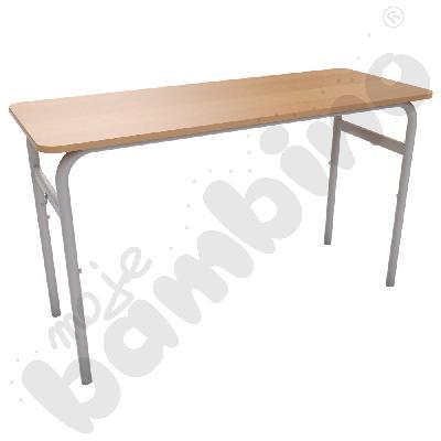 Stół Daniel PU 2-os. rozm. 6 - aluminium