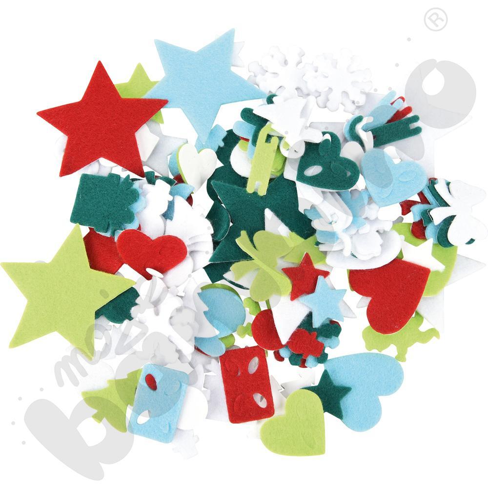 Filcowe kształty - motywy bożonarodzeniowe