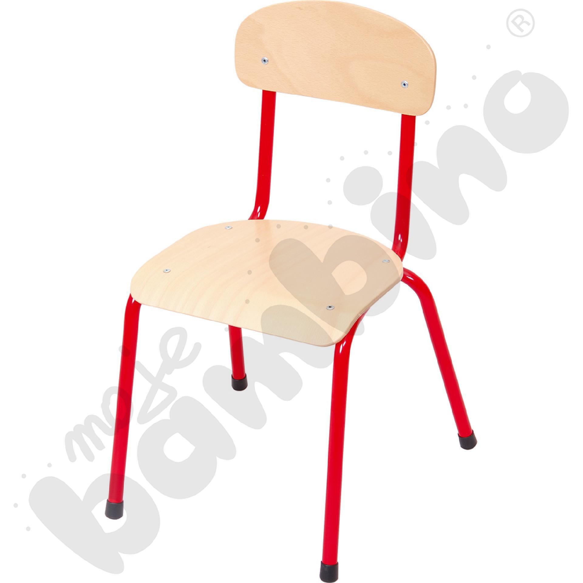 Krzesło Bambino rozm. 4 czerwone