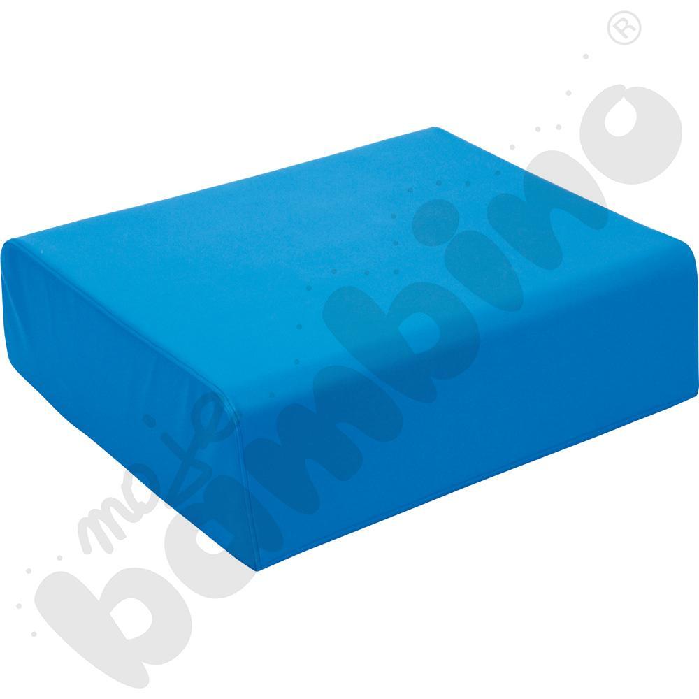 Duży miękki stolik niebieski