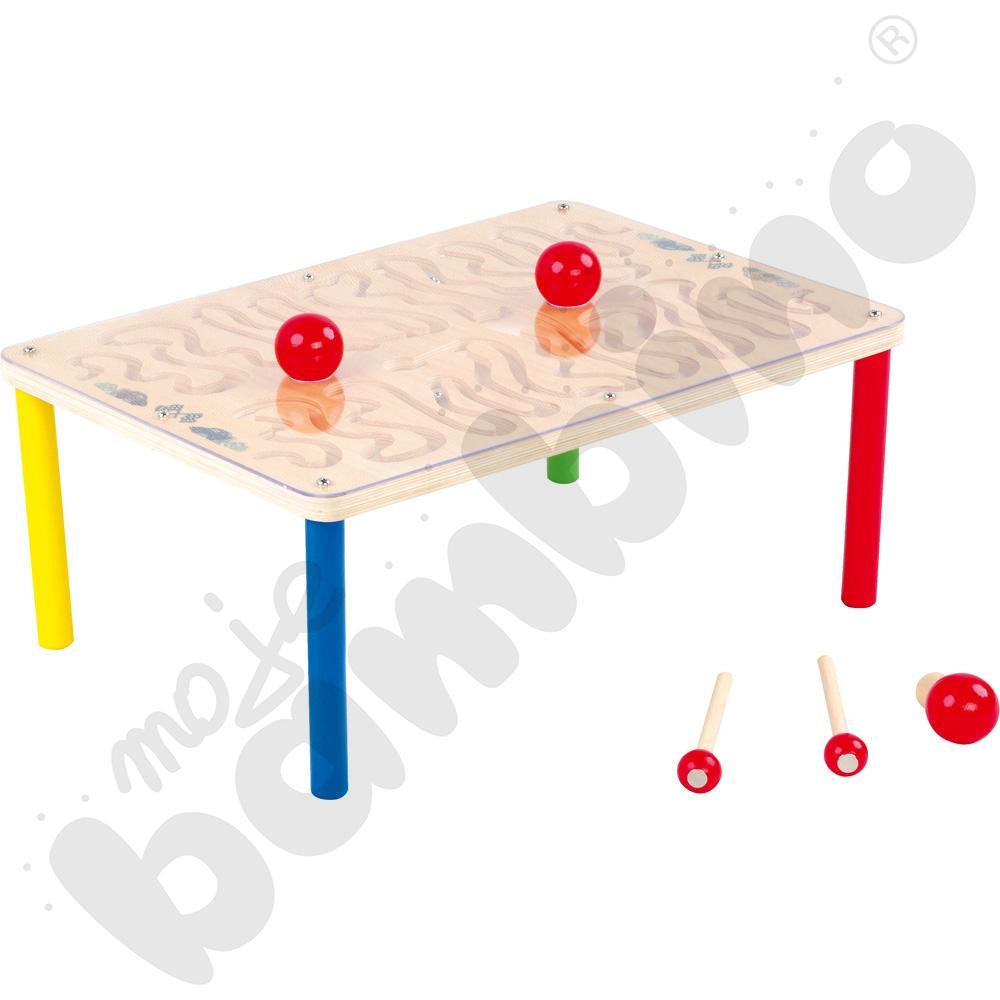 Magnetyczny stół z labiryntem