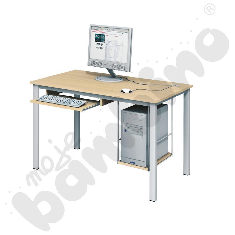 Stolik komputerowy LUX PLUS  z półką na komputer i szufladą na klawiaturę - klon