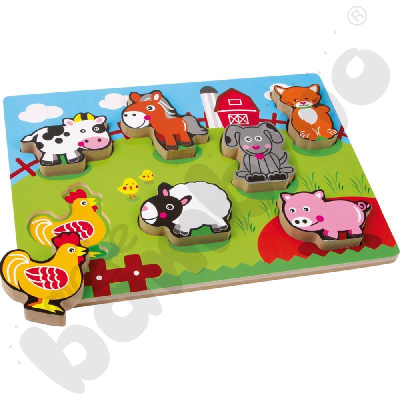 Puzzle zwierzęta na farmie