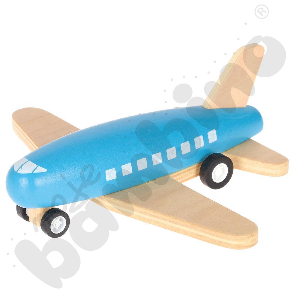 Samolot drewniany - niebieski