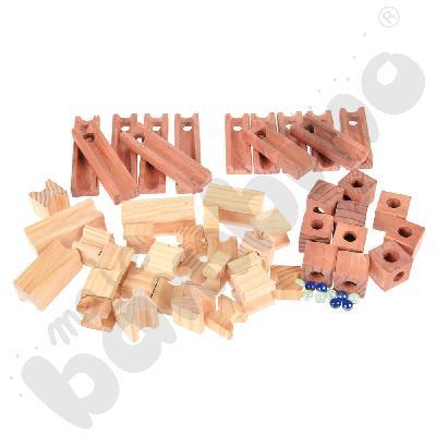 Kulodrom drewniany 60 elem.