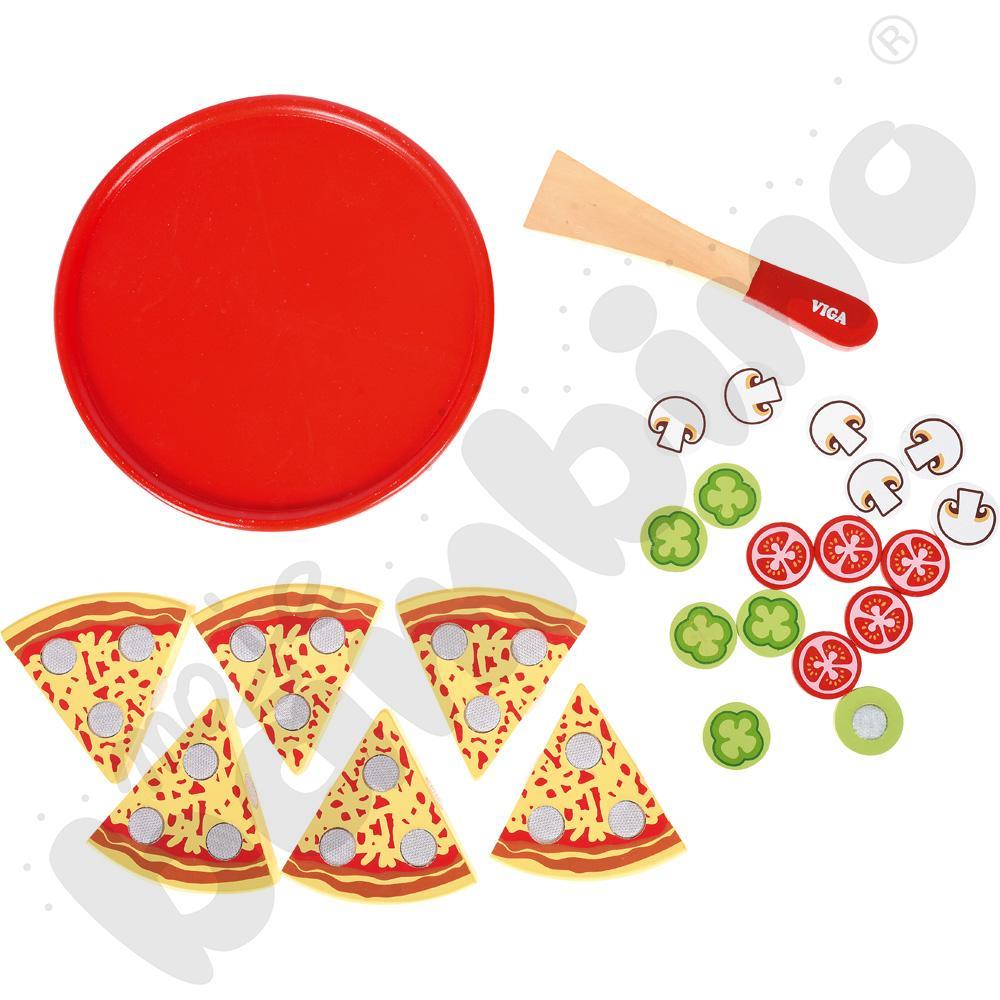 Pizza - zestaw drewniany