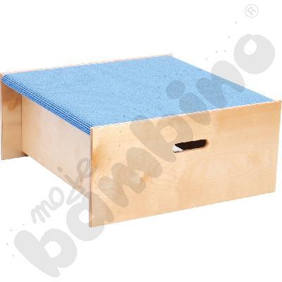 Podest kwadrat - wys. 30 cm jasnoniebieski