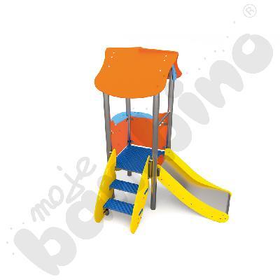 Wieża ze zjeżdżalnią insGraf- żółta