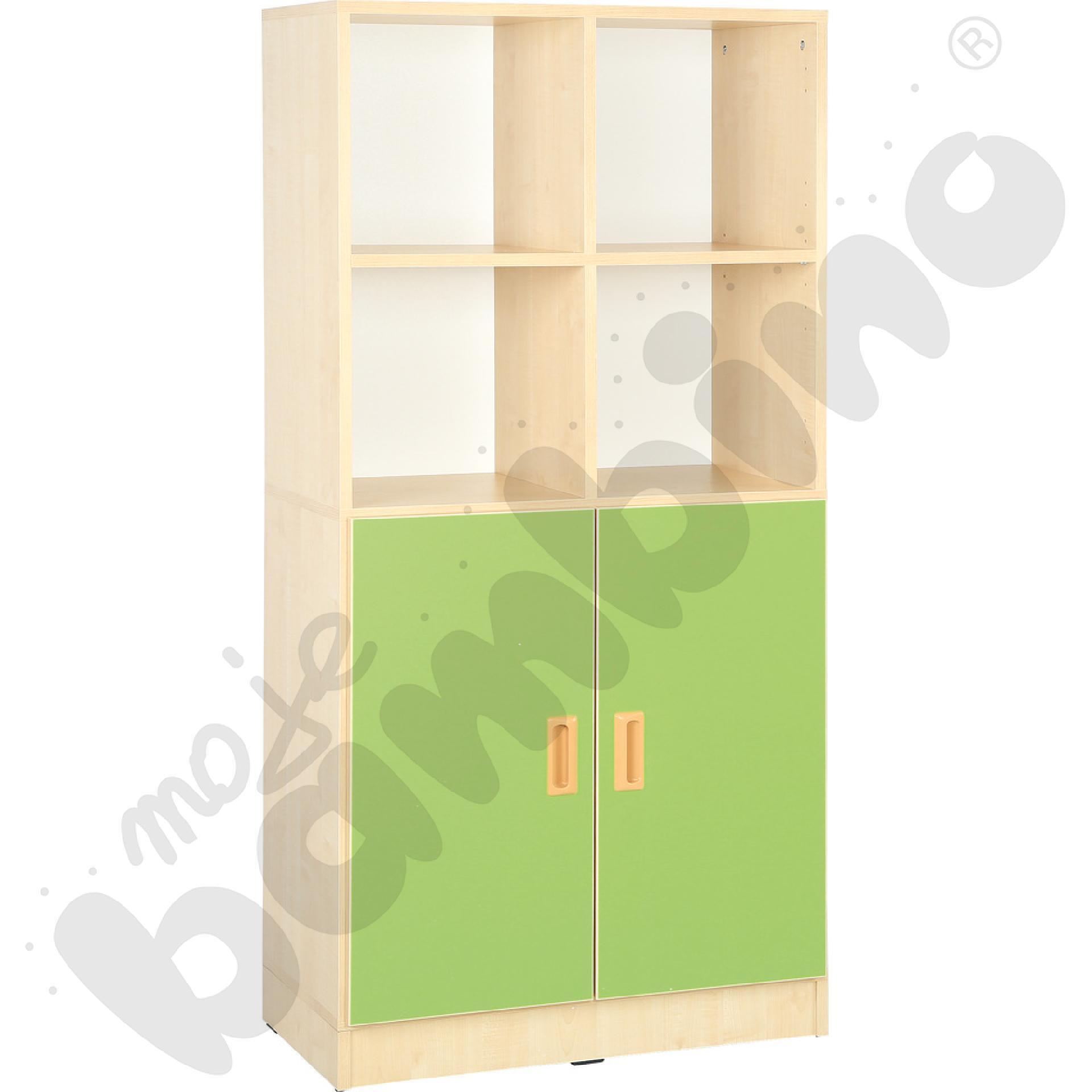 Drzwi duże do regału - zielone