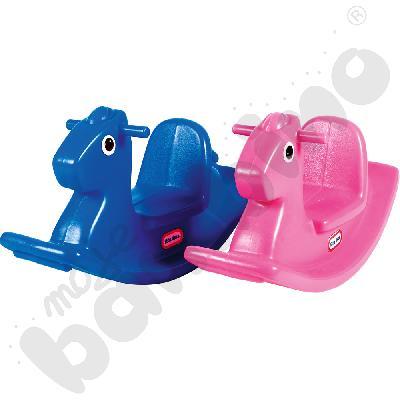 Koń na biegunach różowy