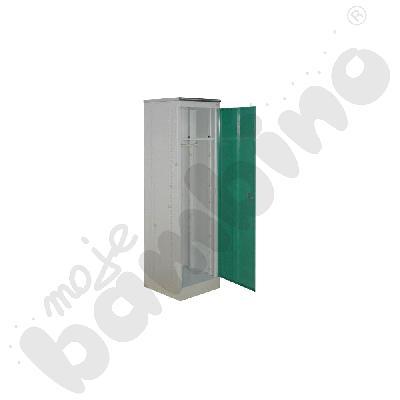Szafka metalowa wysoka jednodrzwiowa z zielonymi drzwiami