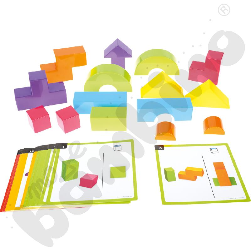 Budujemy w 3D - zestaw klocków z kartami