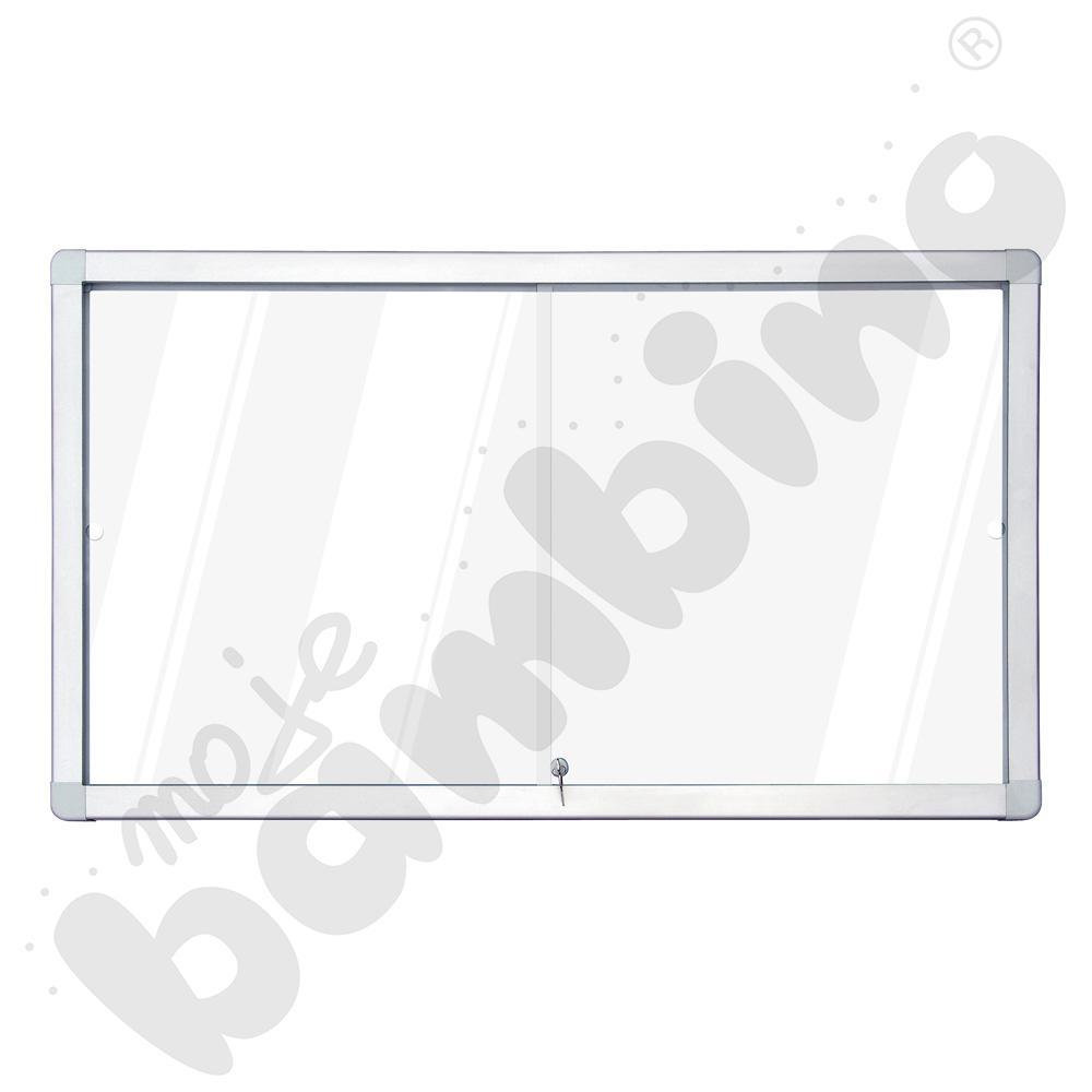 Gablota wewnętrzna suchościeralno-magnetyczna z przesuwnymi drzwiami 141 x 70 cm