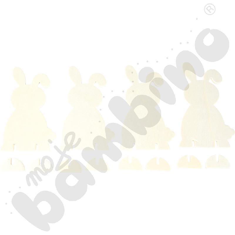 Drewniane króliczki wielkanocne