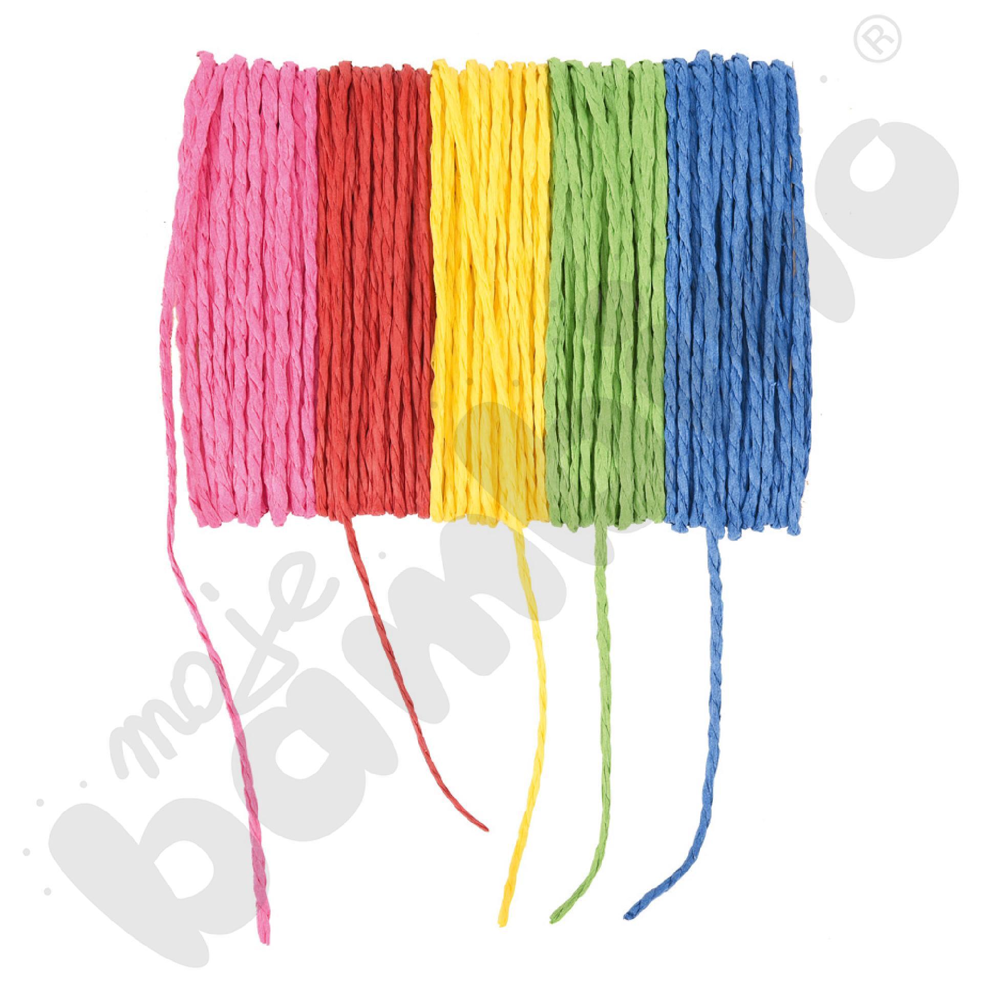 Sznurki papierowe - różne kolory
