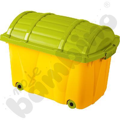Skrzynia Pirat zielono-żółta