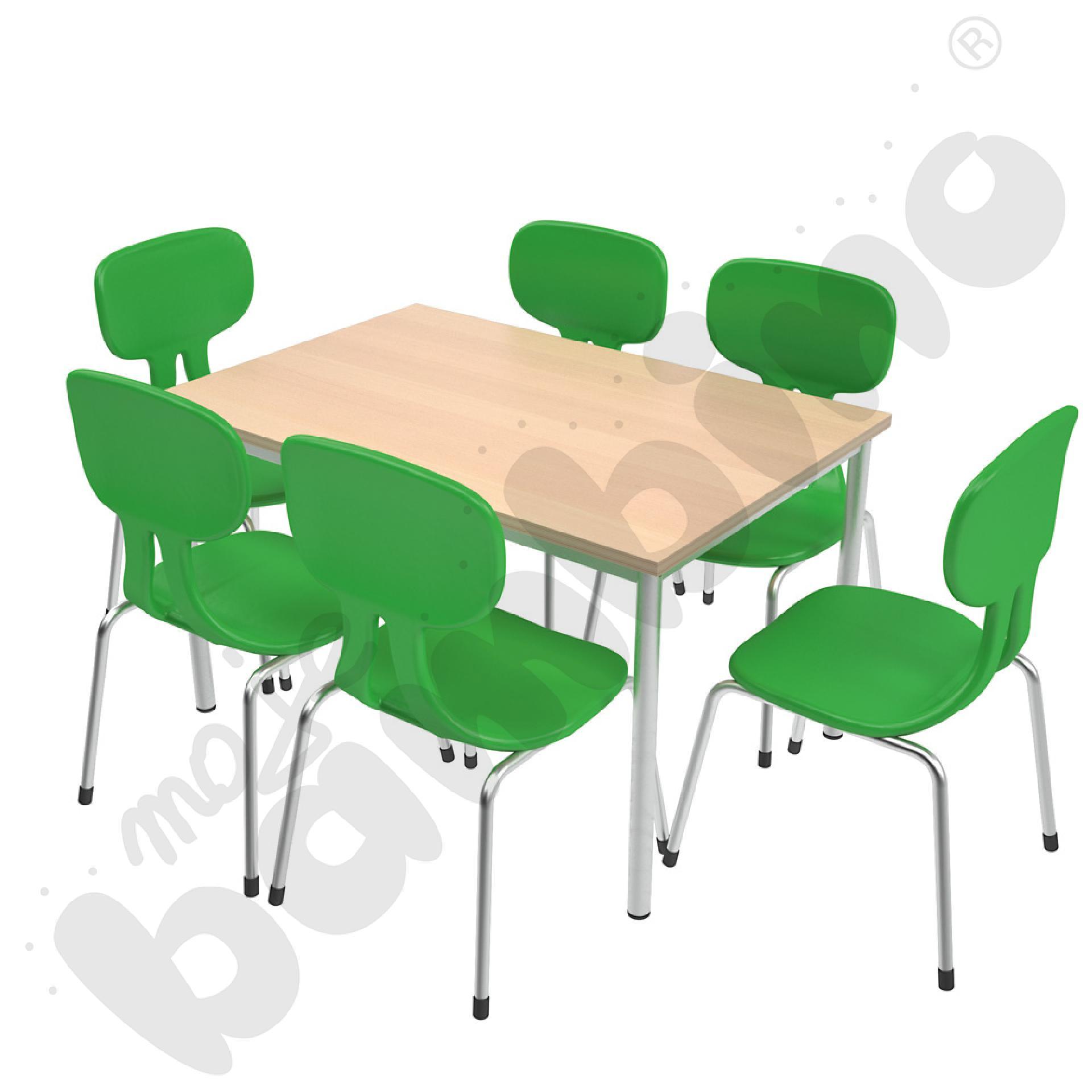 Stół Mila 120 x 80 klon z 6...