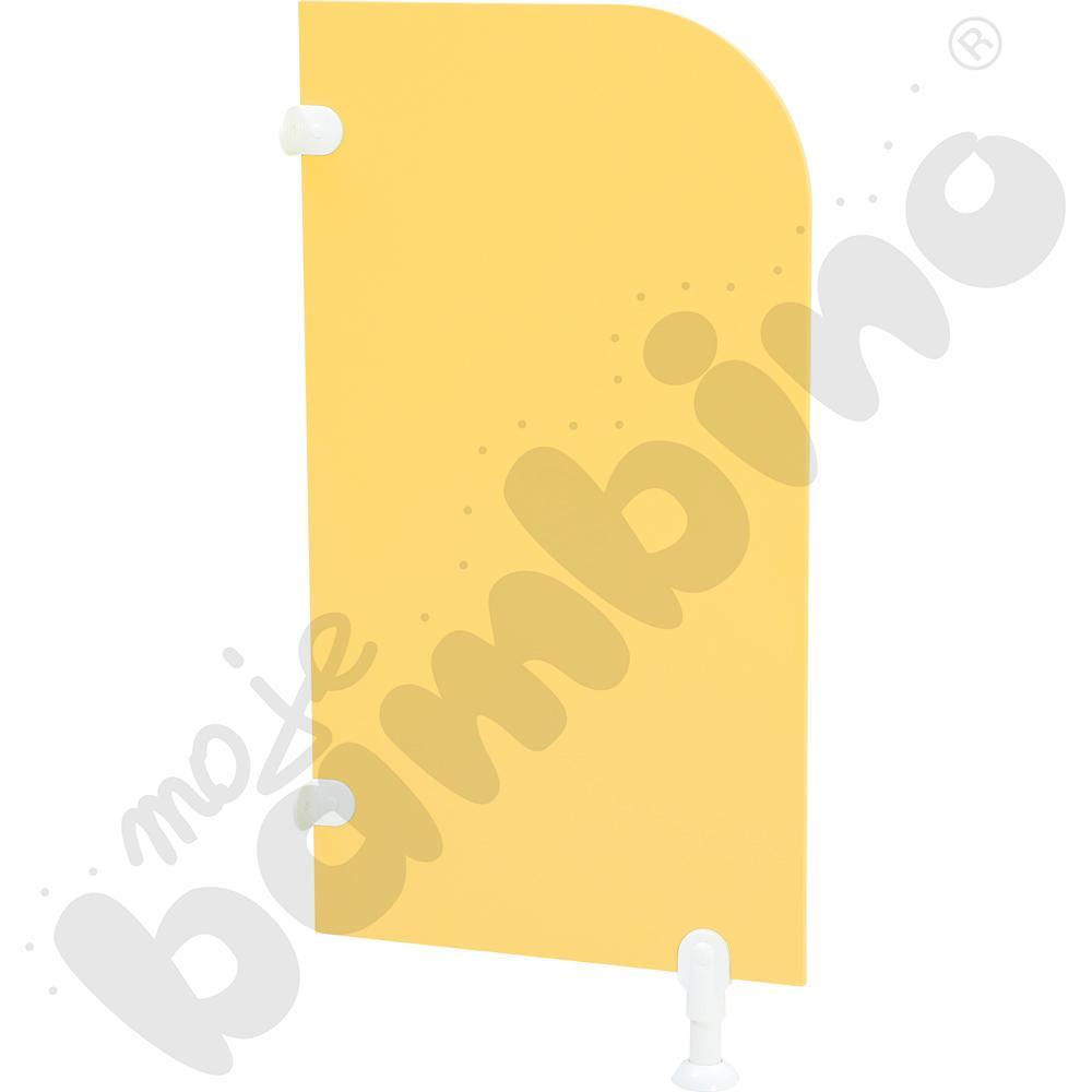 Ścianka działowa do WC - żółta