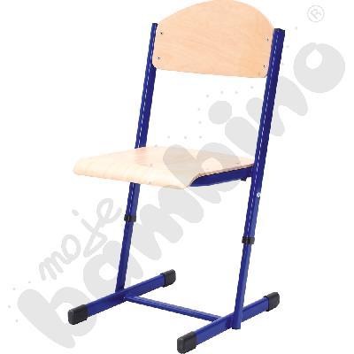 Krzesło T z regulowaną wysokością rozm. 5-6 niebieskie