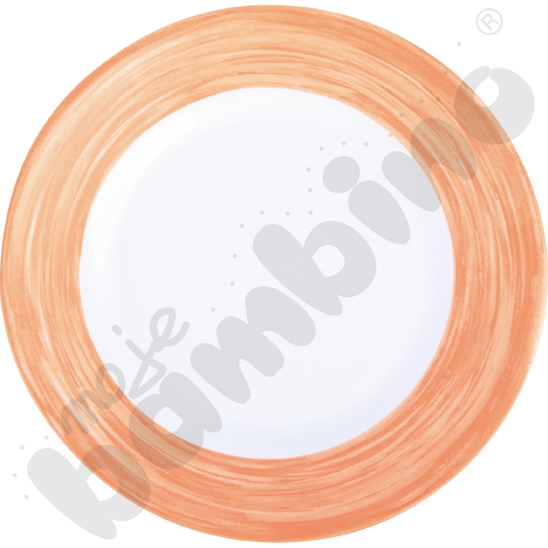 Talerzyk deserowy Brush - pomarańczowy