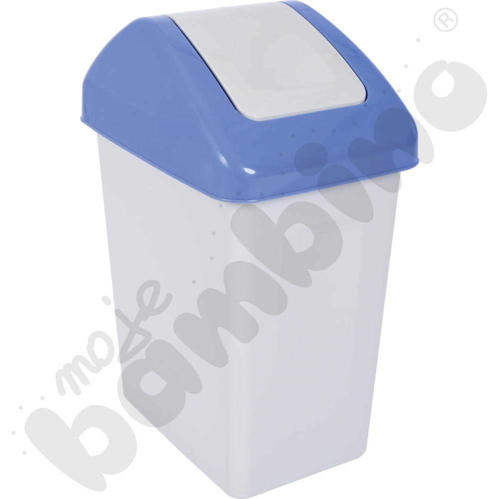 Kosz na śmieci z uchylną pokrywą 25 l, niebieski