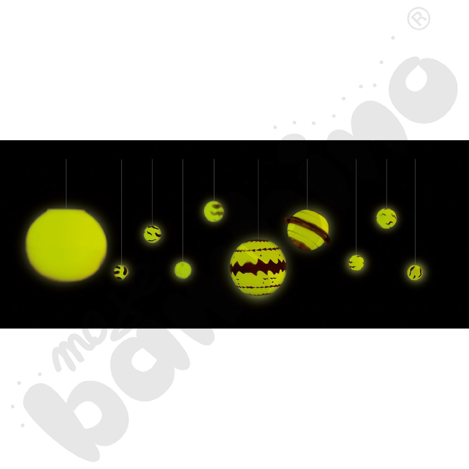 Układ Słoneczny 3D - świecący w ciemności