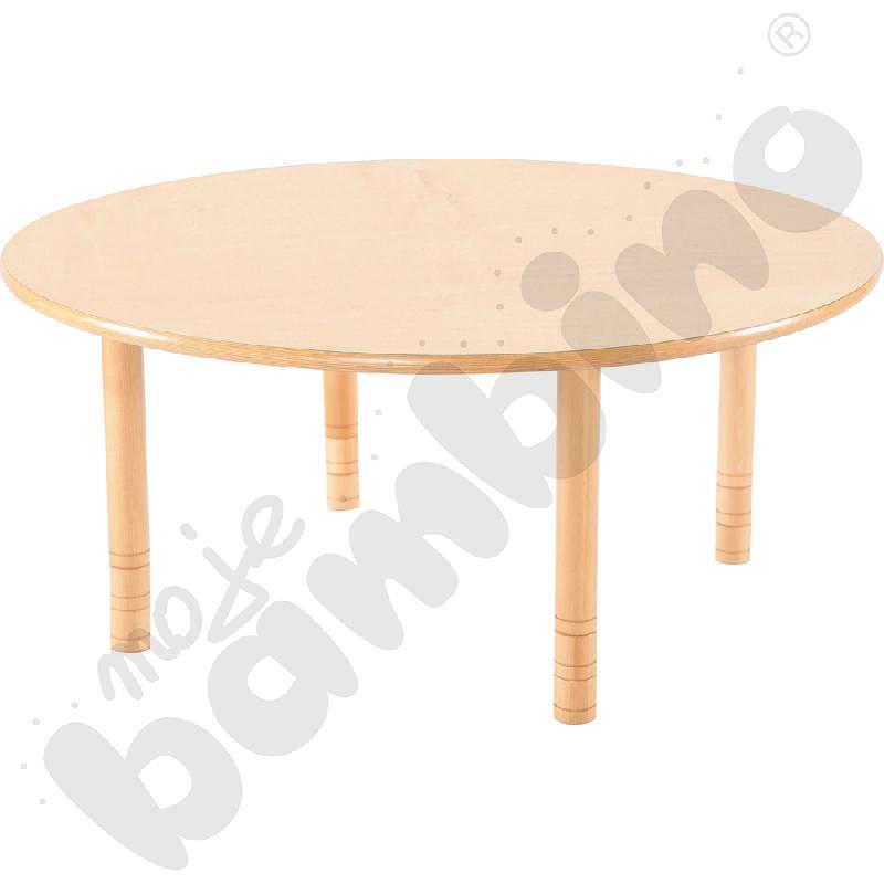 Stół Flexi okrągły - bukowy