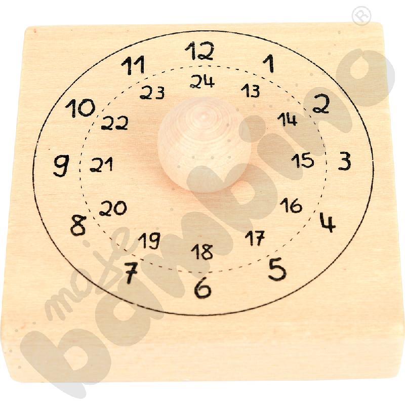 Drewniany stempel - zegar