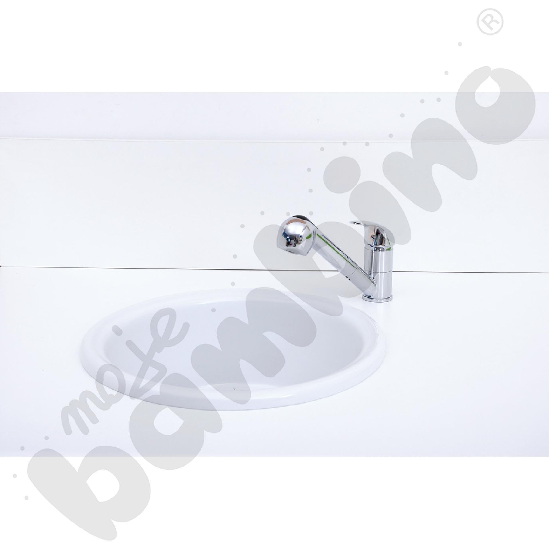 Umywalka okrągła z syfonem