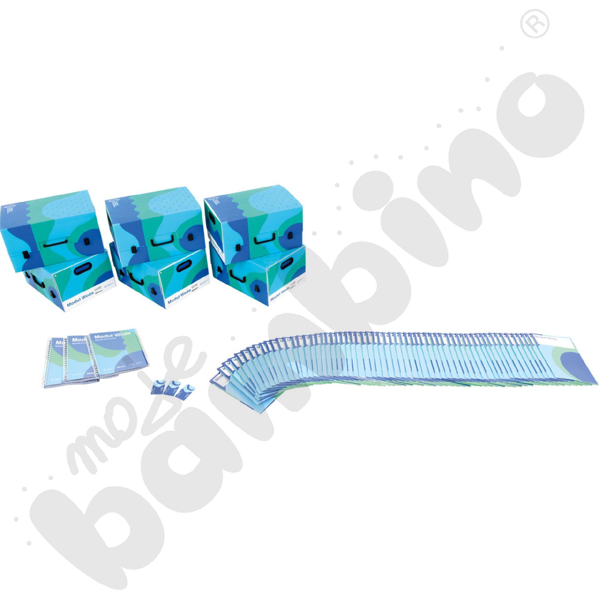 Modułowe Pracownie Przyrodnicze - moduł WODA - pakiet klasowy z 3 podręcznikami