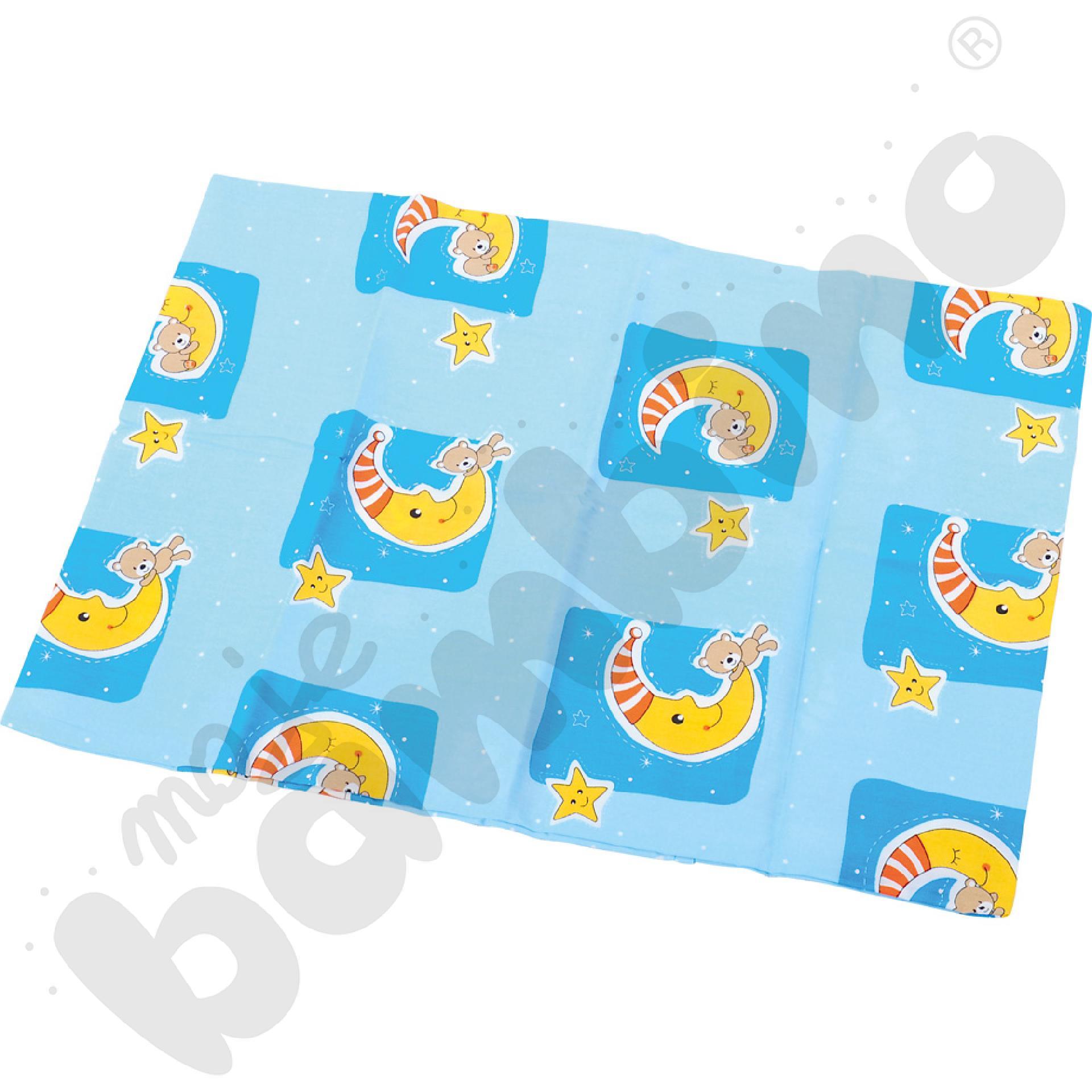 Poszewka na poduszkę niebieska wym. 35 x 50 cm