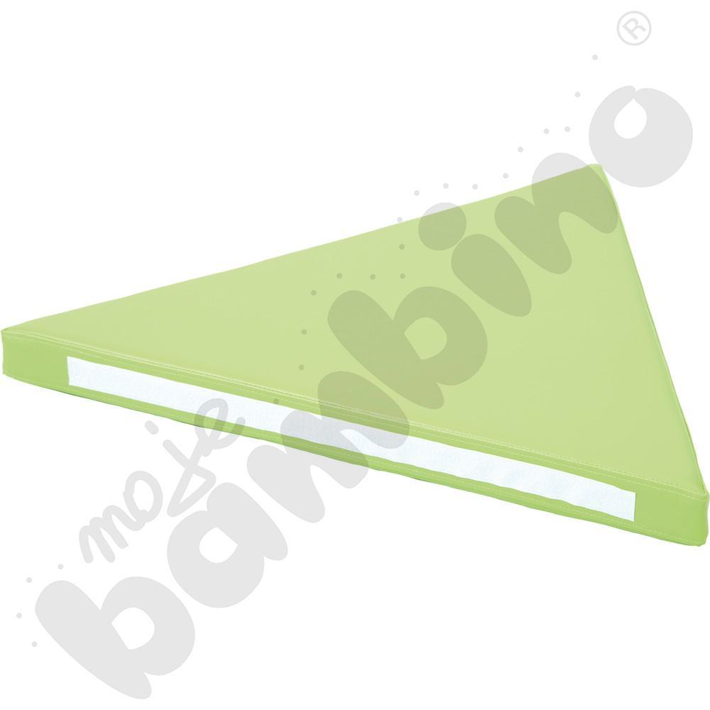 Materac trójkątny zielony - kształtka rehabilitacyjna