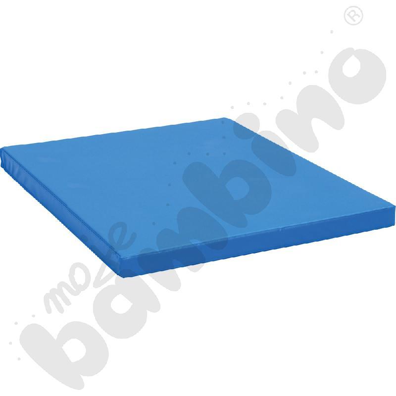 Materac antypoślizgowy  wym. 159 x 159 x 8 cm niebieski