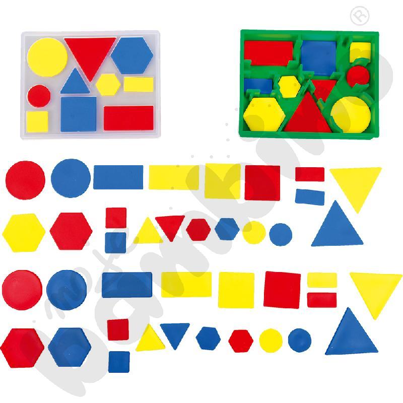 Małe kolorowe figury