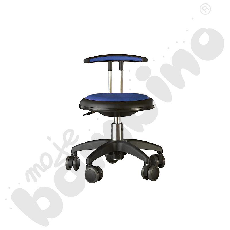 Krzesło Genito z oparciem, wys. 30-38 cm - niebieskie