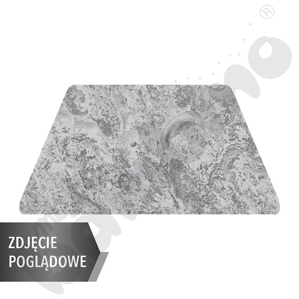 Cichy stół Plus trapezowy, 140 x 70 x 80 x 70 cm, zaokrąglone narożniki, rozm. 5 - szary