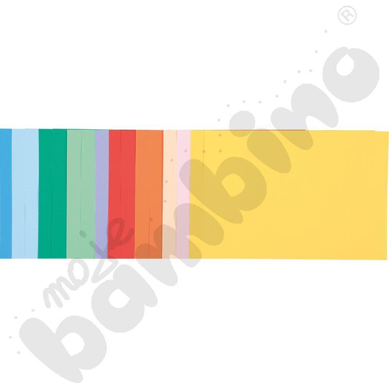 Blok rysunkowy z kolorowymi kartkami A4