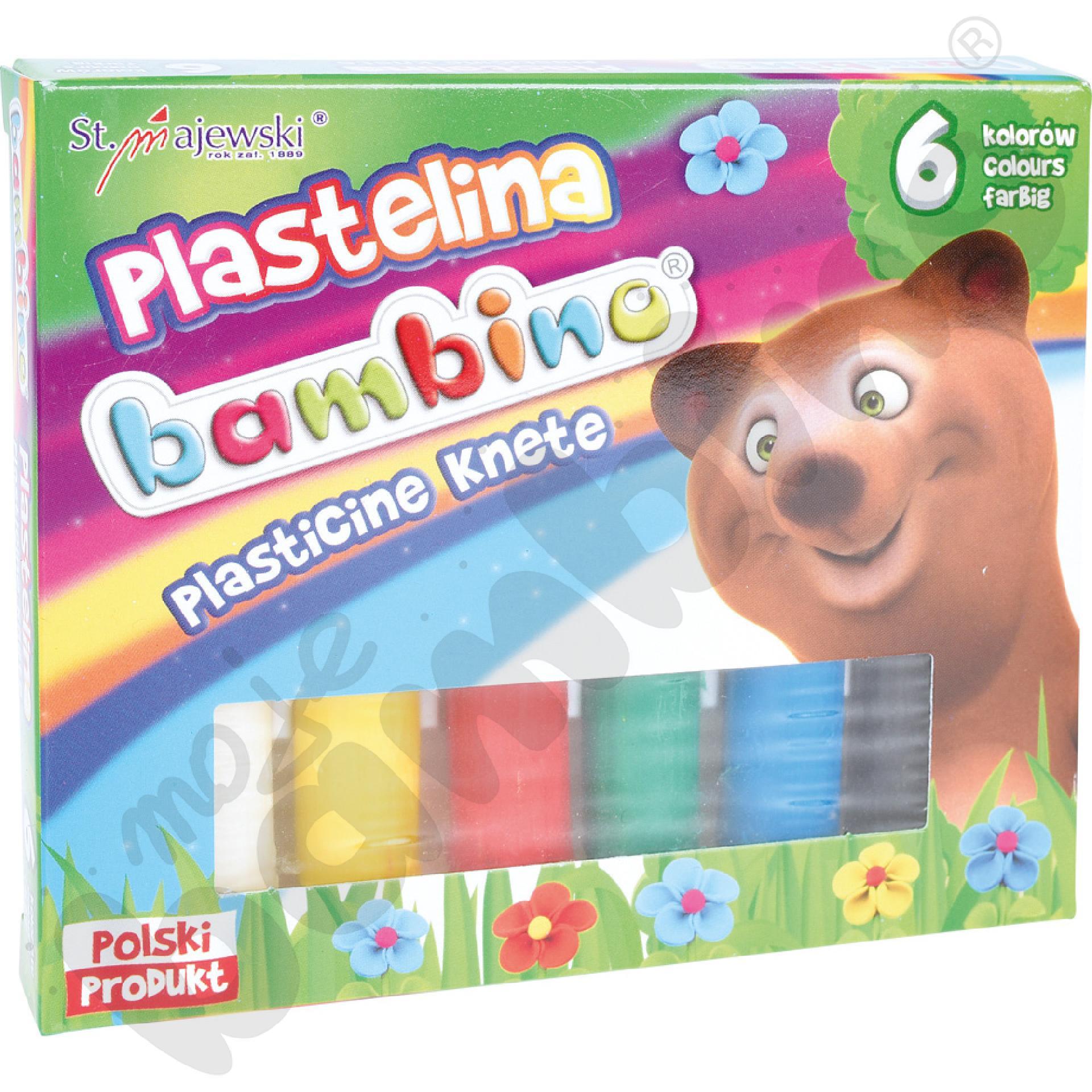 Plastelina 6 kolorów