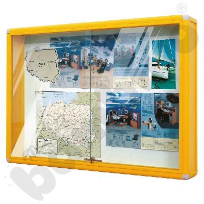 Gablota informacyjna duża żółta