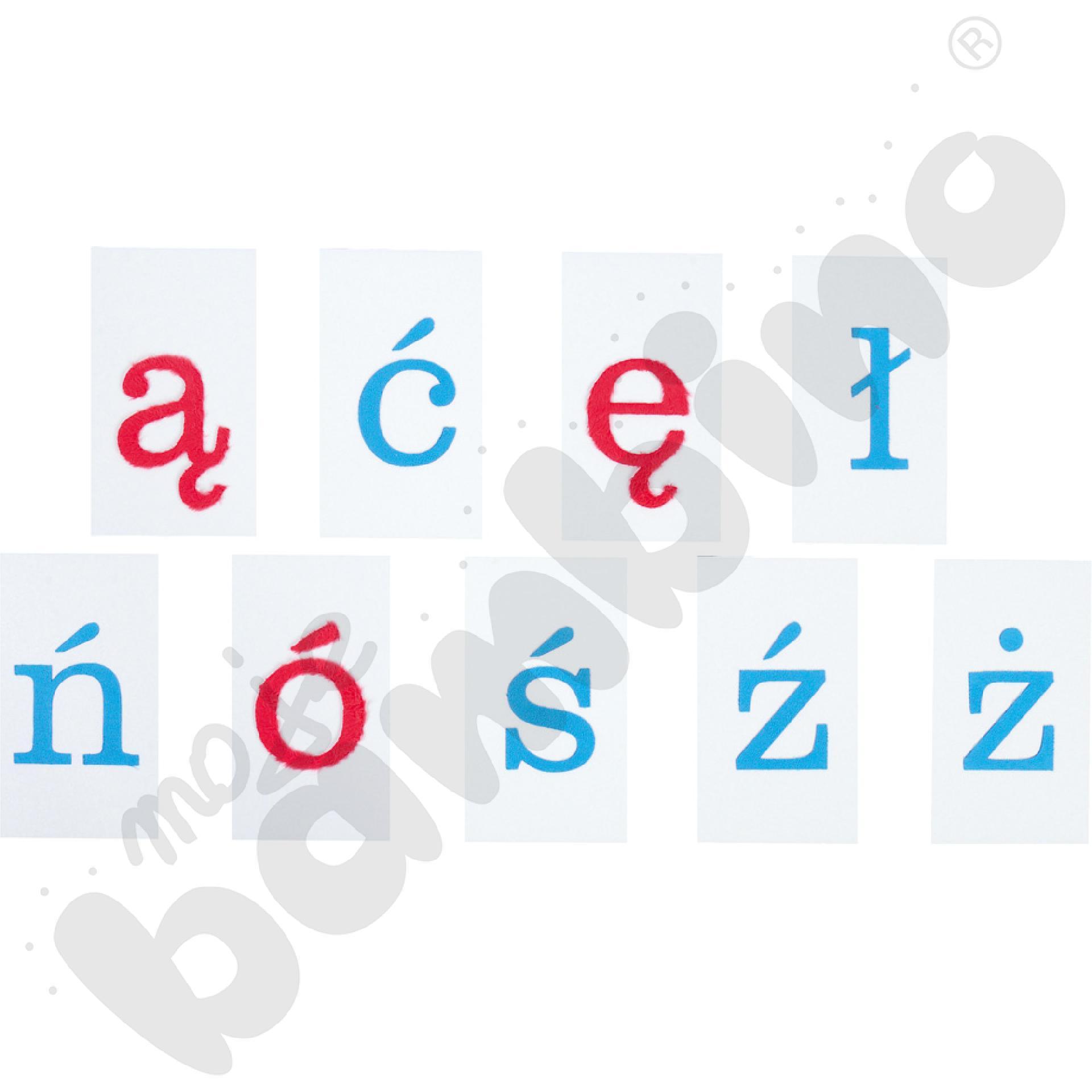 Alfabet polski -  małe litery