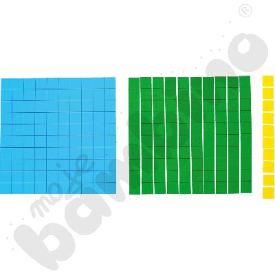 Kostki systemu dzisiętnego - 3 kolory