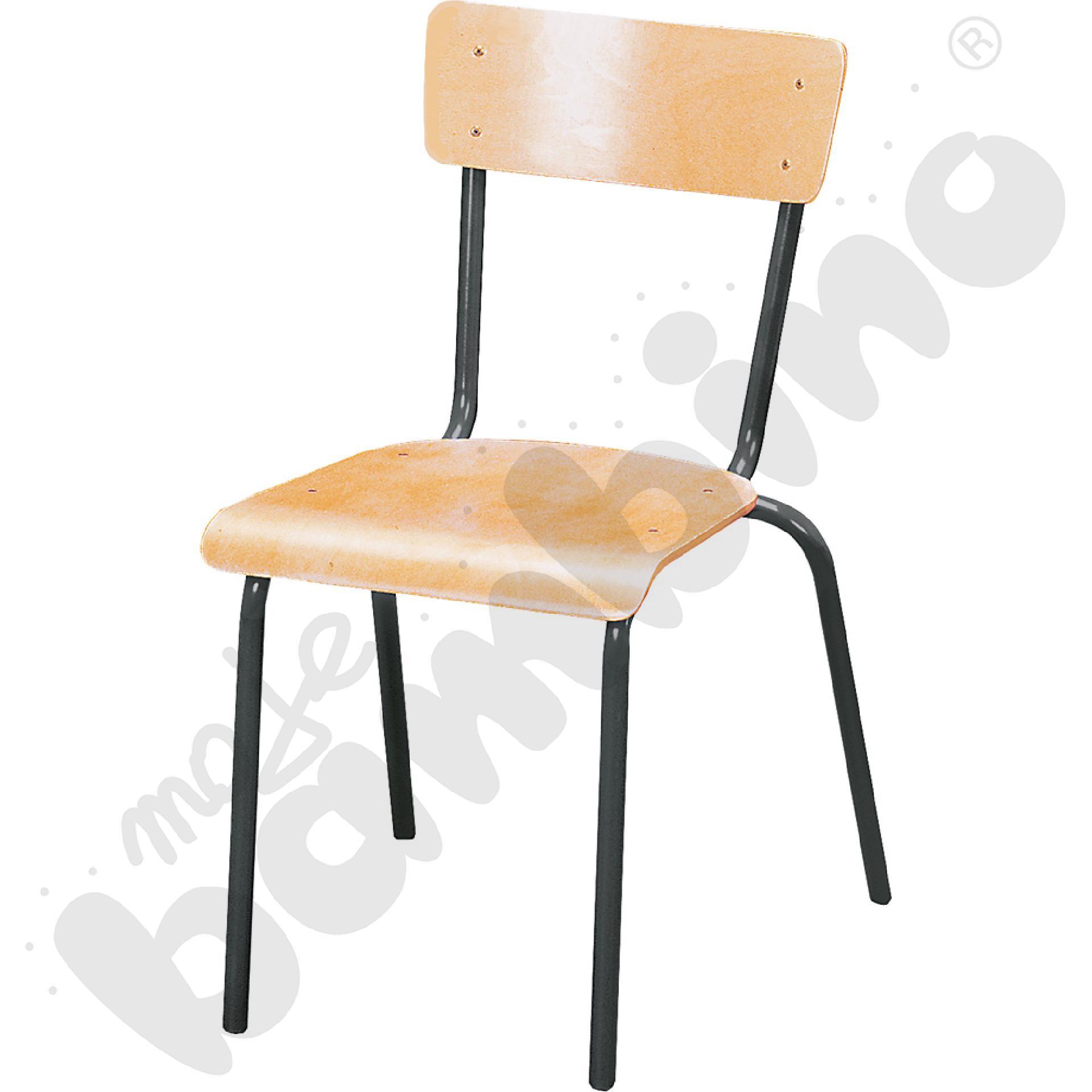 Krzesło D rozm. 6 czarne