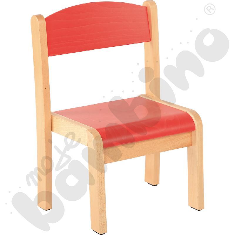 Krzesło Filipek czerwone ze stopką filcową rozm. 2