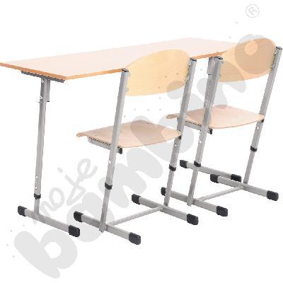 Stół T 2-os. z krzesłami T,...
