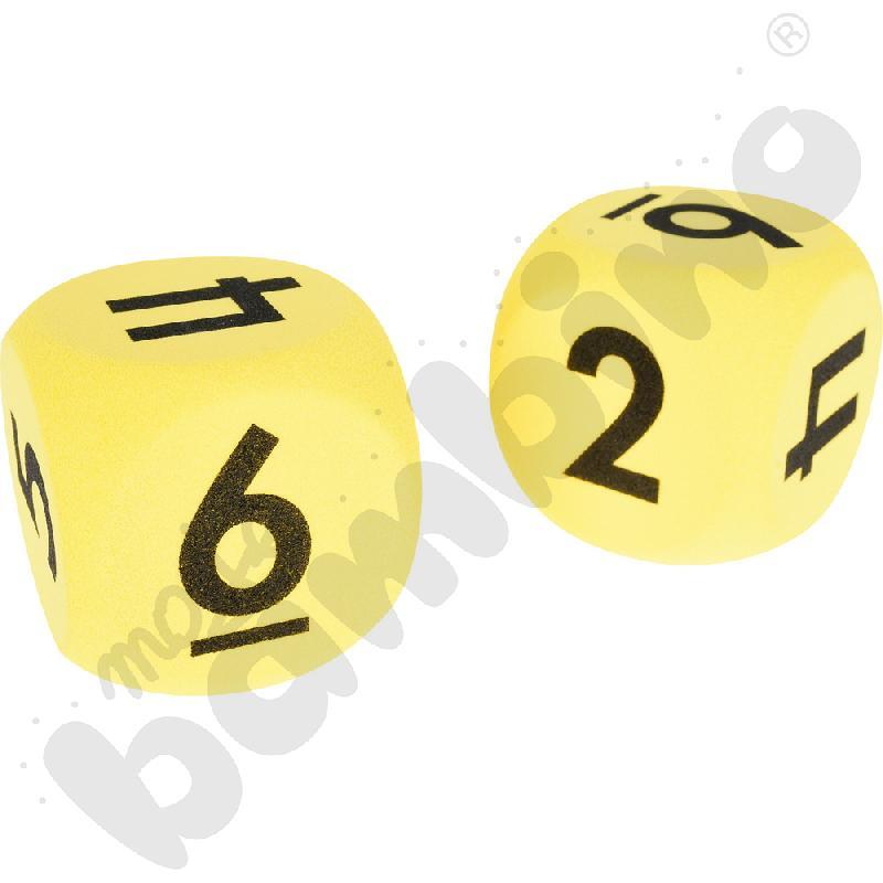Kostki z liczbami